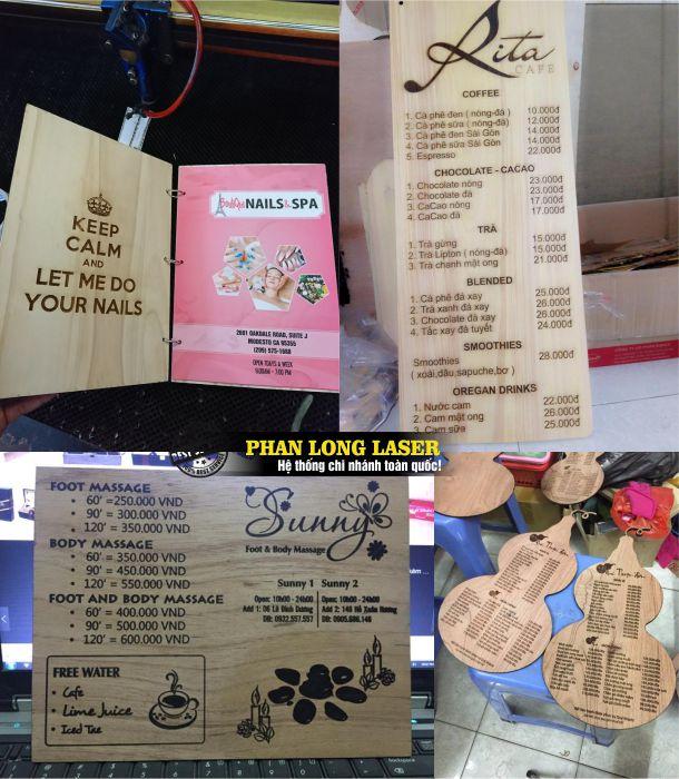 Làm menu cho quán ăn, quán cafe, quán nhậu, menu cho nhà hàng tại Tphcm sài Gòn, Hà Nội giá rẻ
