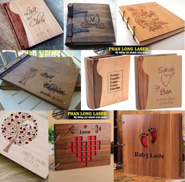 Xưởng gia công chuyên nhận thiết kế và làm sổ gỗ, sách gỗ, menu gỗ, album gỗ theo yêu cầu