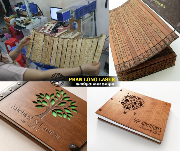 Cơ sở nhận làm bìa menu gỗ, làm sổ gỗ, sách gỗ, album gỗ theo yêu cầu giá rẻ tại Tphcm Sài Gòn Hà Nội