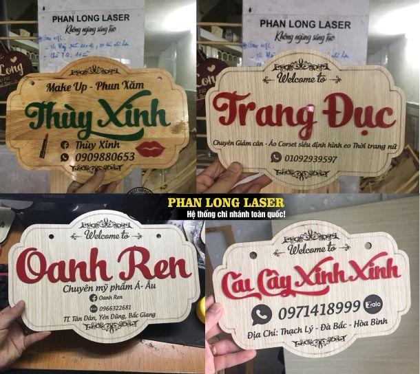 Biển gỗ tên shop làm cho một số khách hàng tại Đắc Lắc, Bình Dương, Bạc Liêu, Sóc Trăng, Tiền Giang, Kiên Giang