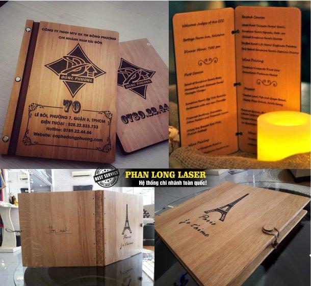 Cơ sở nhận thiết kế làm bìa gỗ, sổ gỗ, sách gỗ, menu gỗ, album gỗ theo yêu cầu sử dụng máy cắt laser và khắc laser thiết kế tạo hình