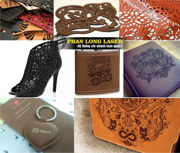 Khắc Hình Ảnh, Khắc hoa văn, khắc tên, khắc chữ, khắc logo trên Da bằng laser tại Đà Nẵng