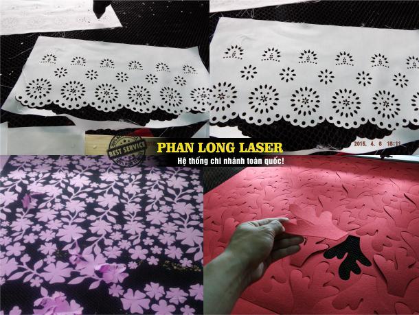 Cắt vải laser, cắt hoa văn trên vải, cắt vải thêu con giống giá rẻ lấy liền lấy ngay