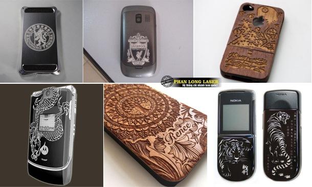 Khắc ốp lưng, khắc nắp lưng, khắc vỏ khắc viền, khắc bao da điện thoại