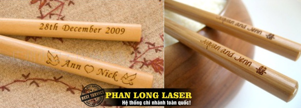 Khắc Đũa bằng Laser tại Đà Nẵng, Hà Nội, TPHCM, Cần Thơ