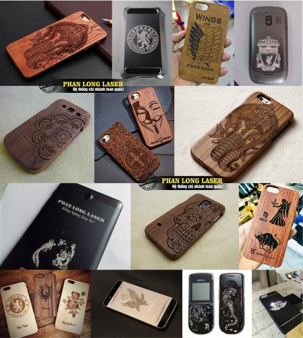 Khắc Hình ảnh, khắc logo, khắc thư pháp, khắc hoa văn, khắc chữ khắc tên lên ốp lưng điện thoại giá rẻ