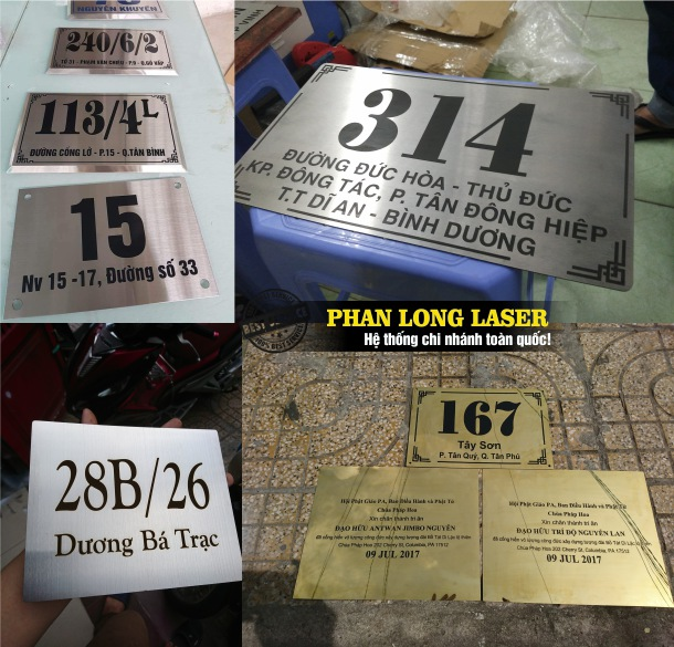 Địa chỉ cắt khắc laser trên biển số nhà, biển quảng cáo tại Tp Hồ Chí Minh, Sài Gòn, Đà Nẵng, Hà Nội