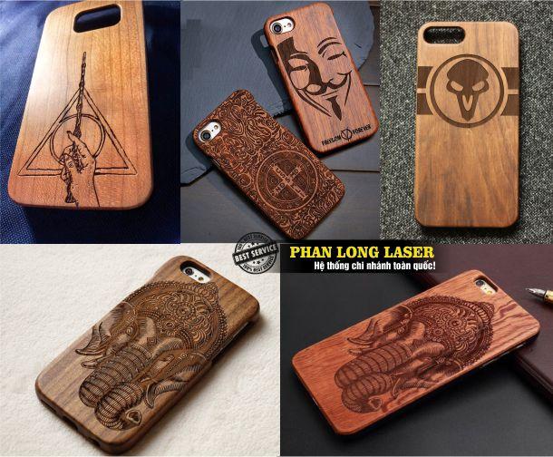 Khắc vỏ điện thoại gỗ, khắc ốp lưng nắp lưng điện thoại Gỗ Tphcm Sài Gòn, Đà Nẵng, Hà Nội và Cần Thơ