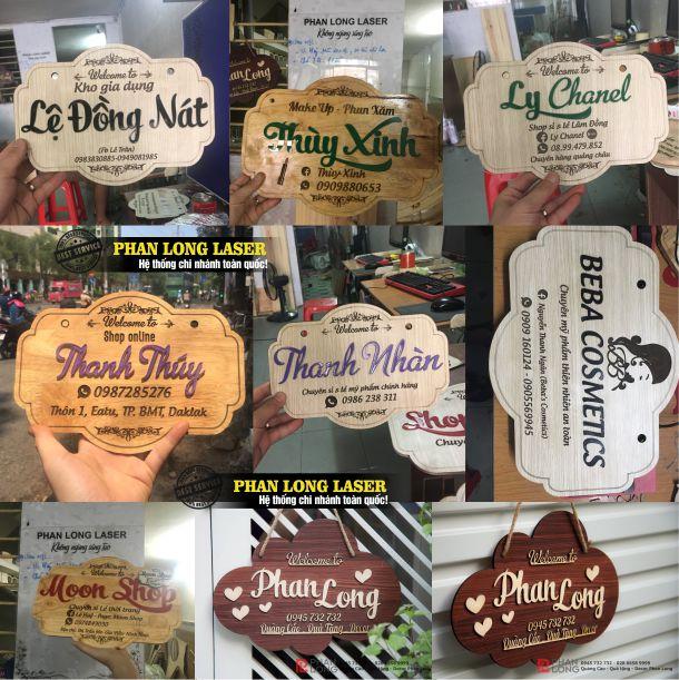 Làm bảng gỗ tên shop giá rẻ tại Tphcm Sài Gòn, Hà Nội, Đà Nẵng và Cần Thơ