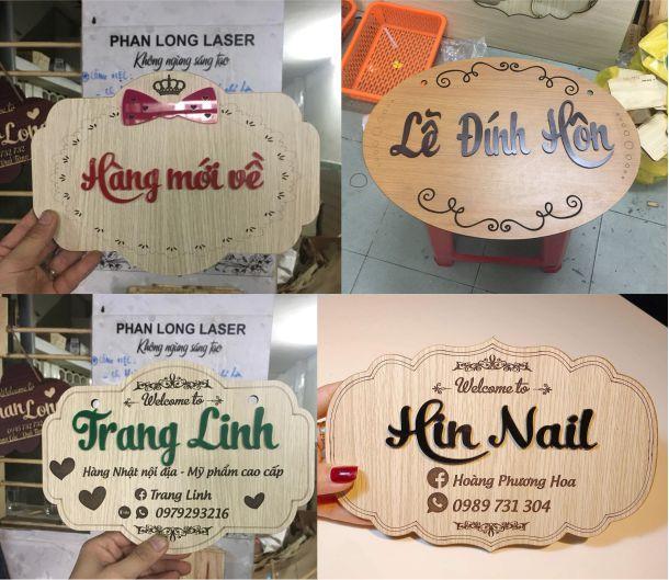 Làm biển gỗ tên shop dùng làm chụp hình đạo cụ cho khách hàng tại Thanh Hóa, Hải Dương, Bắc Ninh, Quảng Ninh, Ninh Thuận, Bình Thuận