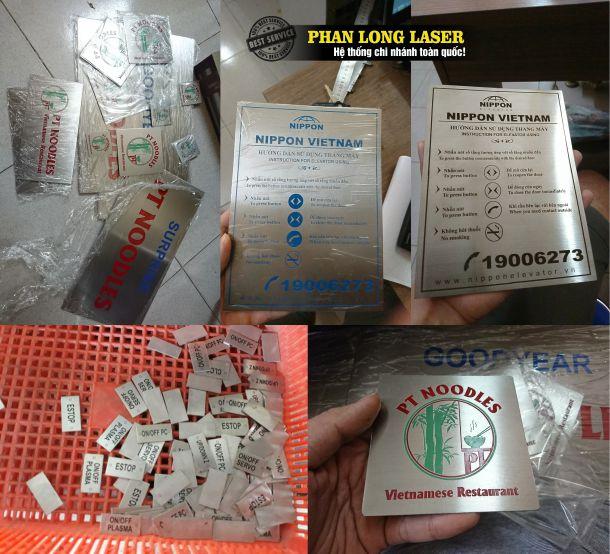 Cửa hàng thiết kế và nhận làm tem nhãn mác inox kim loại đồng nhôm theo yêu cầu đẹp lấy liền
